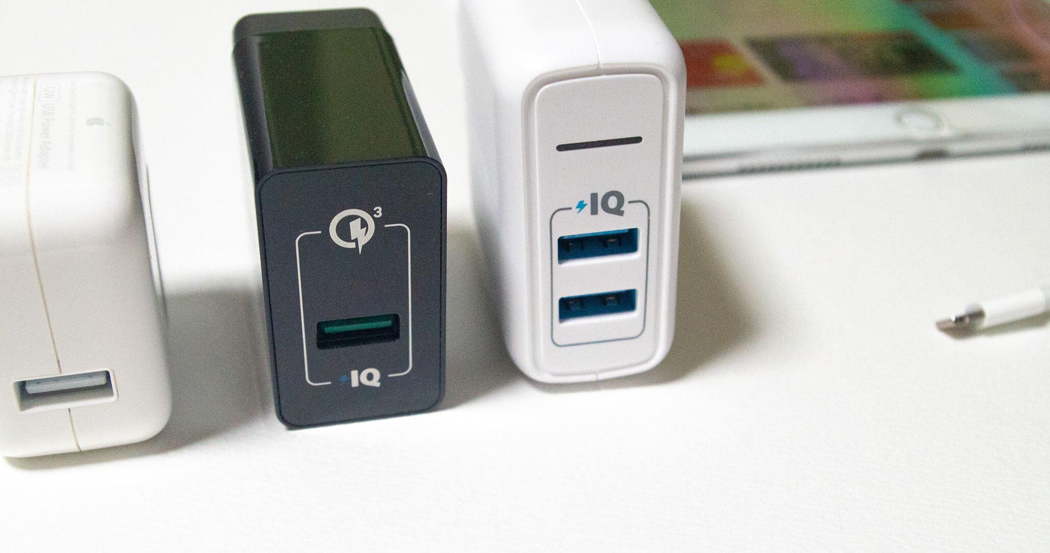 iPadで使用した充電器
